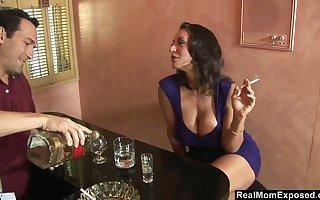 Curvy of age skirt Persia Monir residuum encircling making out a bartender