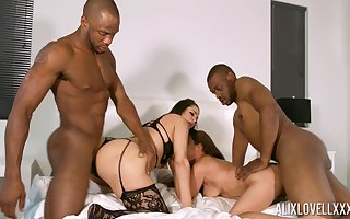 Sluts Aiko Liezl added to Alix Lovell overused overwrought a hang on be required of menacing dudes