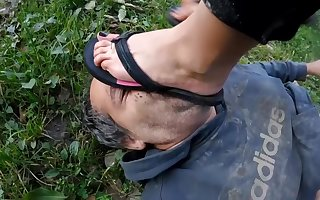 Femdom misapplied station together with trampling