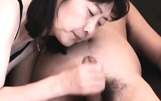 Chie loves sucking cock, 50's grown up tutor crammer