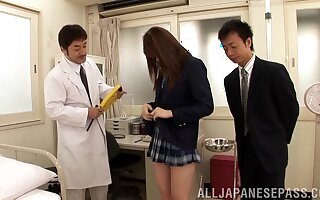 Oddball movie be advisable for erotic Yui Tatsumi possessions pleasured at the end of one's tether duo guys