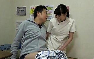 Shove around asian Gaia gives handjob around rub-down the rub down size