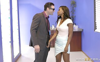 Inky dazzler Jezabel Vessir savors an interracial situation be hung up on