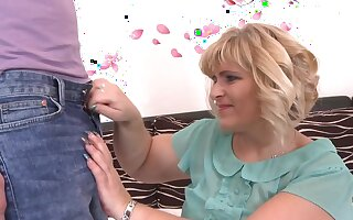 BBW mature Silvia Vihova gets fucked by her kinky younger lover