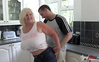 Flaxen-haired British Mature Lacey Starr Got Laid By Sweltering Youngster