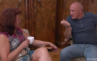 Redhead married muff getting penetrated apart from her hubby - Ilona